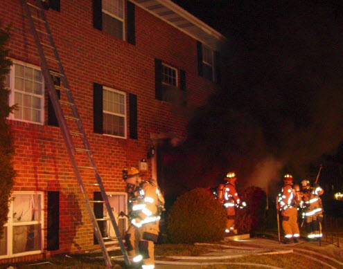 Flow Path is usually toward the largest opening. Photo Courtesy: BCoFD  Incident: Dowling Circle Apartment Fire FB 11-10 (Hillendale, Baltimore Co. Maryland)