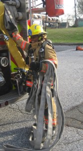 The line stretch includes the working hose and the travel hose. The success of the stretch will be determined by the nozzle firefighter. . Photo Courtesy: Bryan T Smith, Firefightertoolbox.com