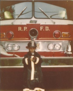 David growing up at the fire house