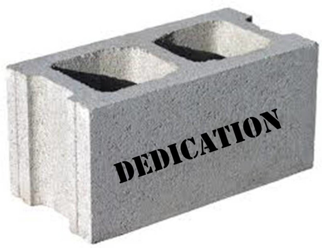 Dedication Block- Dixon
