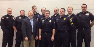 Instructor Mike Larsen and the 2014 FOI,II,III class at Holland Charter Township FD, Holland, MI.