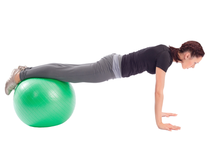 Pushup Exercise with Gym Ball