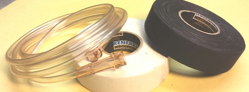 The tape & hose needed for adding grip to your tools.