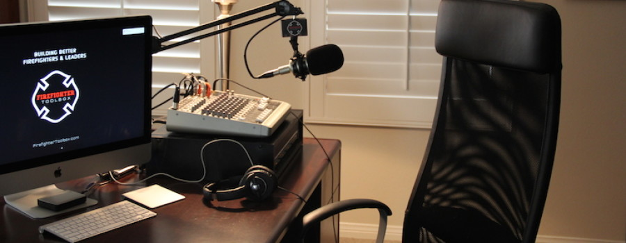 Firefighter Toolbox Podcast Studio with David J Soler