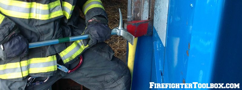 Single Firefighter Forcible Entry Inward Swinging Door