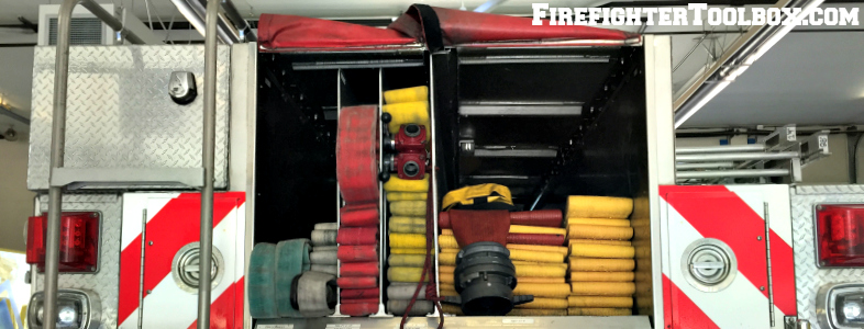 Rear Hose Bed with Supply and Attack Hose Lines