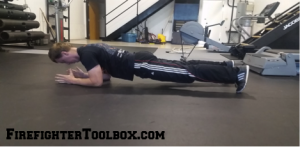 Image demonstrating how to do a plank.