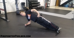 Image showing how to do a side plank